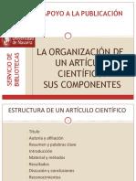 3. Diapositivas. Organiz. Articulo Científico. SUS COMPONENTES