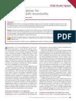 Nebulized Epinephrine For