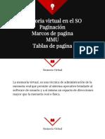 Memoria Virtual,Mmu,Paginacion
