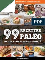 Benjamin Gallier 99 Recettes Paléo 100% Naturelles Et Santé