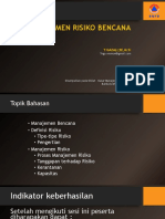 4. Manajemen Risiko Bencana ( TG)