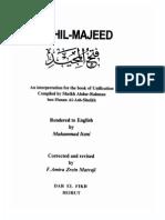 FathAlMajeed An Interpretation of Kit Abut Tawheed Text