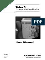Tetra 3 Personal Multigas Monitor - User Manual (Issue 7)