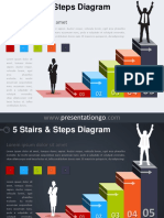 5 Stairs Steps PowerPoint Diagram PGo