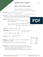 Cours Geometrie Espace Produit Scalaire