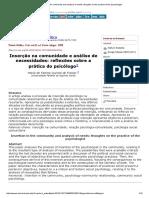 Maria de Fátima Freitas Quintal; Psicologia Social Comunitária, Na Comunidade