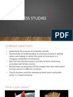 SLIDE 01 - Business Activity & Classification of Businesses