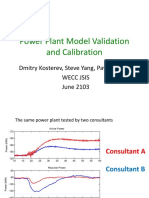 Power Plant Model Validation and Calibration
