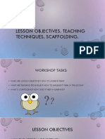 lesson objectives  teaching techniques  scaffolding