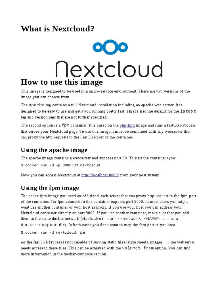 What is Nextcloud? | Web Server | Proxy Server