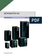Micromaster 440 Betriebsanleitung