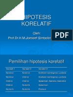 HIPOTESIS KORELATIF