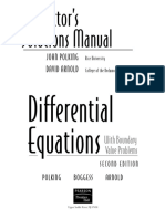 Instructor's Solutions Manual Differential Equations With Boudary Values Problems 2nd Edition