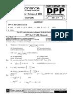 Maths DPP27