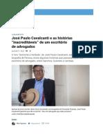 """Print José Paulo Cavalcanti e as Histórias """"Inacreditáveis"""" de Um Escritório de Advogados – Observador"""