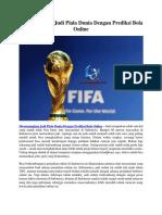 Memenangkan Judi Piala Dunia Dengan Prediksi Bola Online.docx