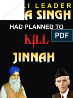 AKALI LEADER TARA SINGH HAD PLANNED TO KILL JINNAH