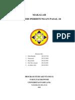 mAKALAH aNALISIS pERHITUNGAN ppH pASAL 24.docx
