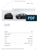 Porsche Panamera - Technical Specs