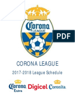 Corona League Schedule 2017-18