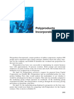 Case Study Polyproducts Incorporated
