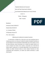 Ensayo de Los Metodos Para El Analisis de Estados Financieros