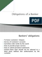 Bankers' Obligations