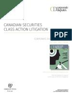 Mini Roundtable - Canadian Securities Class Action Litigation