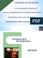 4ta Clase Microestructuras en Los Metales II Parcial