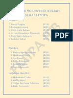 Daftar Volunteer Kuliah Sehari Fmipa