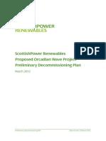 Pelamis Decommissioning Report 2012