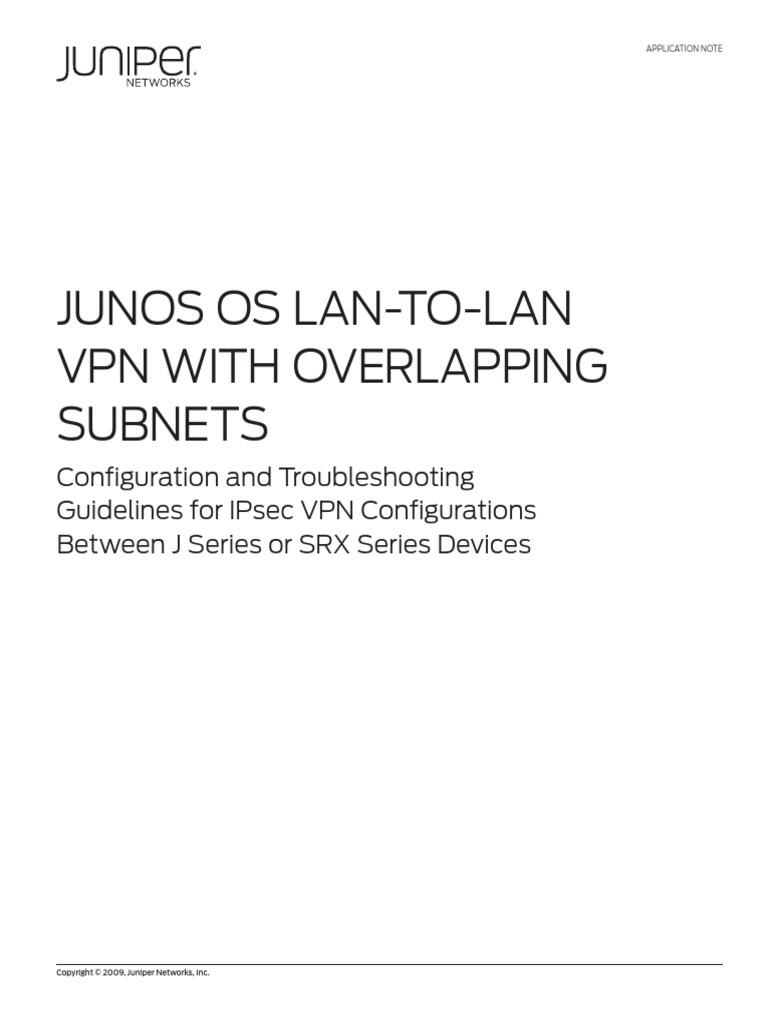 Junos VPN | Ip Address | Virtual Private Network