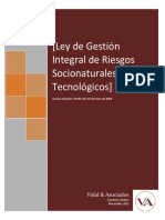 Ley De gestion Integral de Riesgos Socionaturales y Tecnologi