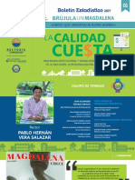 Brújula Unimagdalena - Boletin Estadístico No. 1 - La Calidad Cuesta