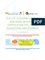 CCA175 Cloudera Hadoop and Spark Developer Tips and Tricks