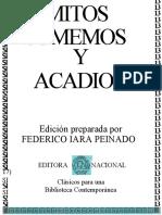 Mitos Sumerios y Acadios - Federico Lara Peinado
