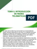 Tema 0. (Teoría) Introducción de Redes Telemáticas