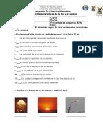 Evaluación de La Luz y El Sonido