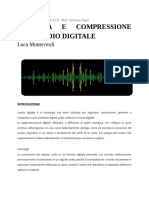 Codifica e Compressione Dell'Audio Digitale