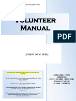 Volunteer Manual Template