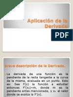 aplicación de la derivada