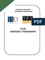 PO.08 - Admissão e Treinamento - V.02