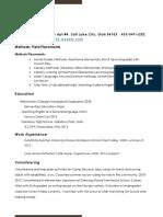 kendall final school of ed resume