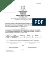 certificado mecanografía