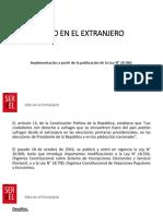 Derecho a Sufragio de Chilenos en el extranjero