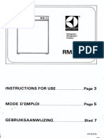 Electrolux Rm212 Instructions