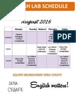 Laboratorio Agosto 2016