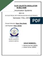CS Lab Assignment Report