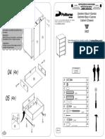 Manual montagem cômoda