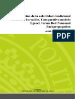 Oliver - Modelización de La Volatilidad Condicional en Índices Bursátiles Comparativa Modelo Eg...